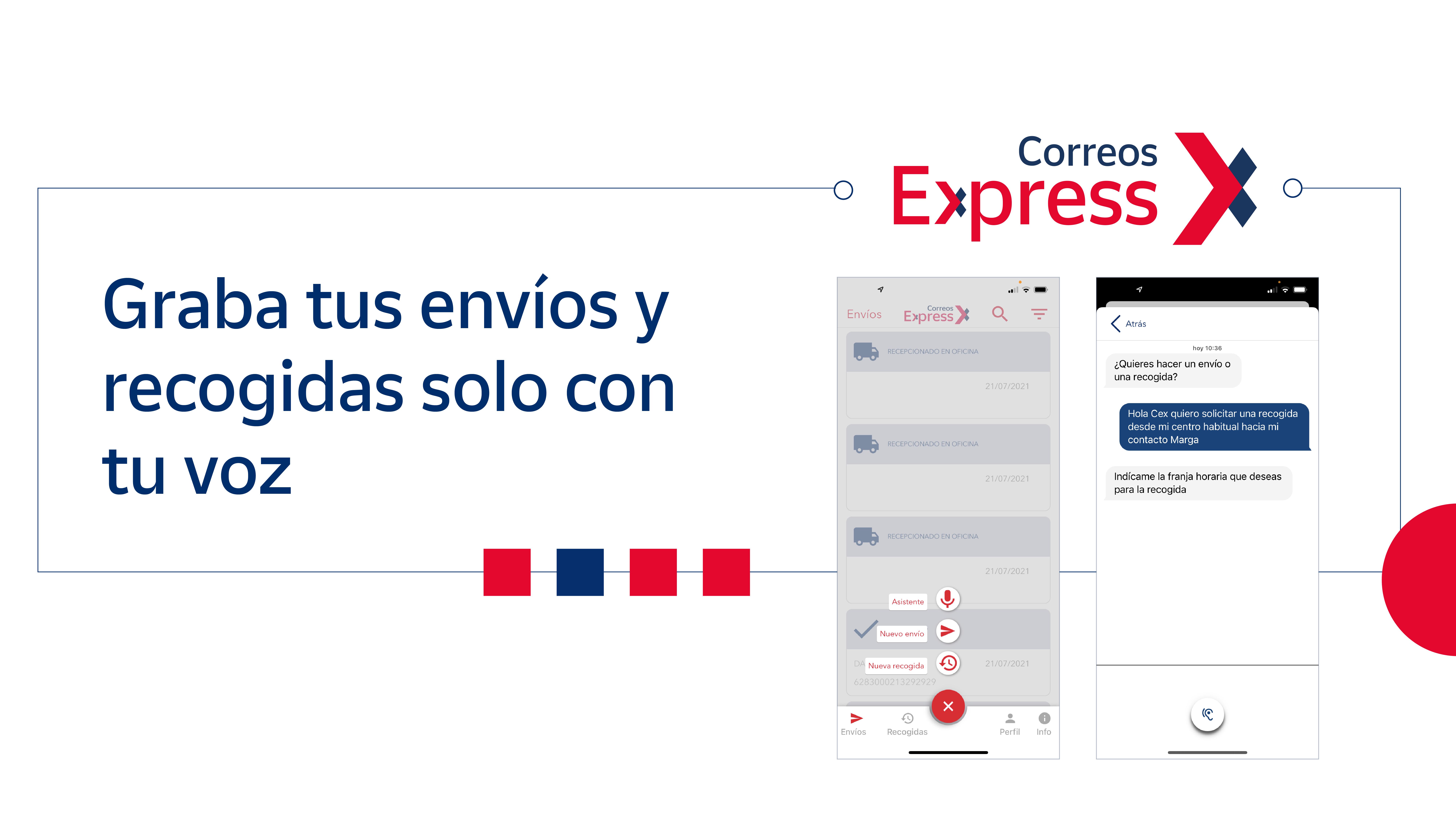 Correos Express lanza Cex, un asistente de voz que permite a los clientes grabar envíos y recogidas utilizando exclusivamente su voz