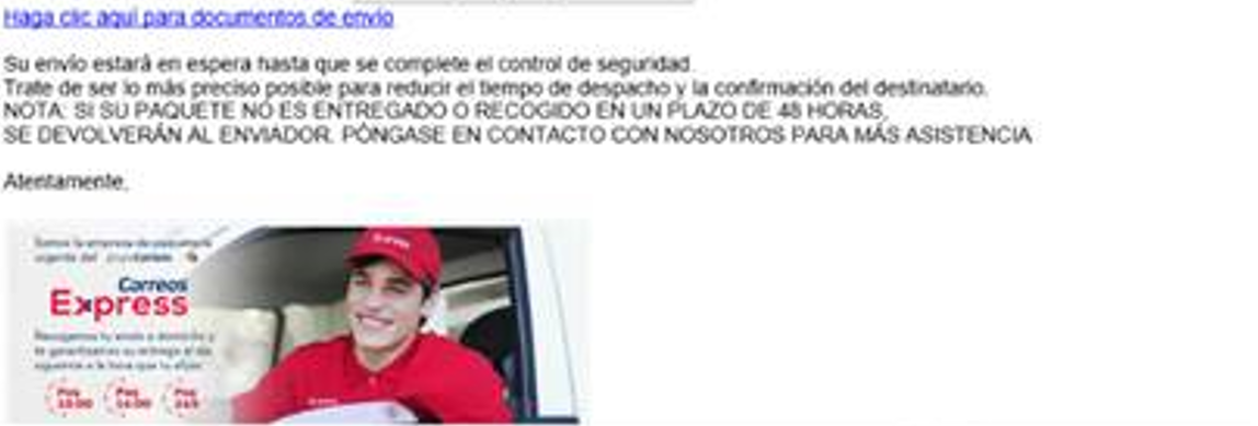 ¡Alerta PHISHING! Suplantación identidad de Correos Express