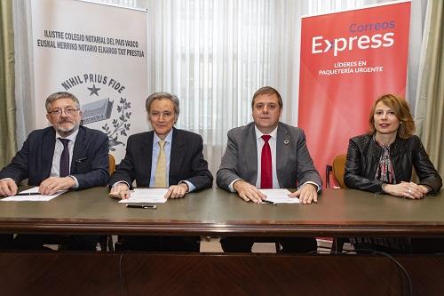 Correos Express firma un acuerdo marco con el Ilustre Colegio Notarial del País Vasco para prestar servicios de transporte