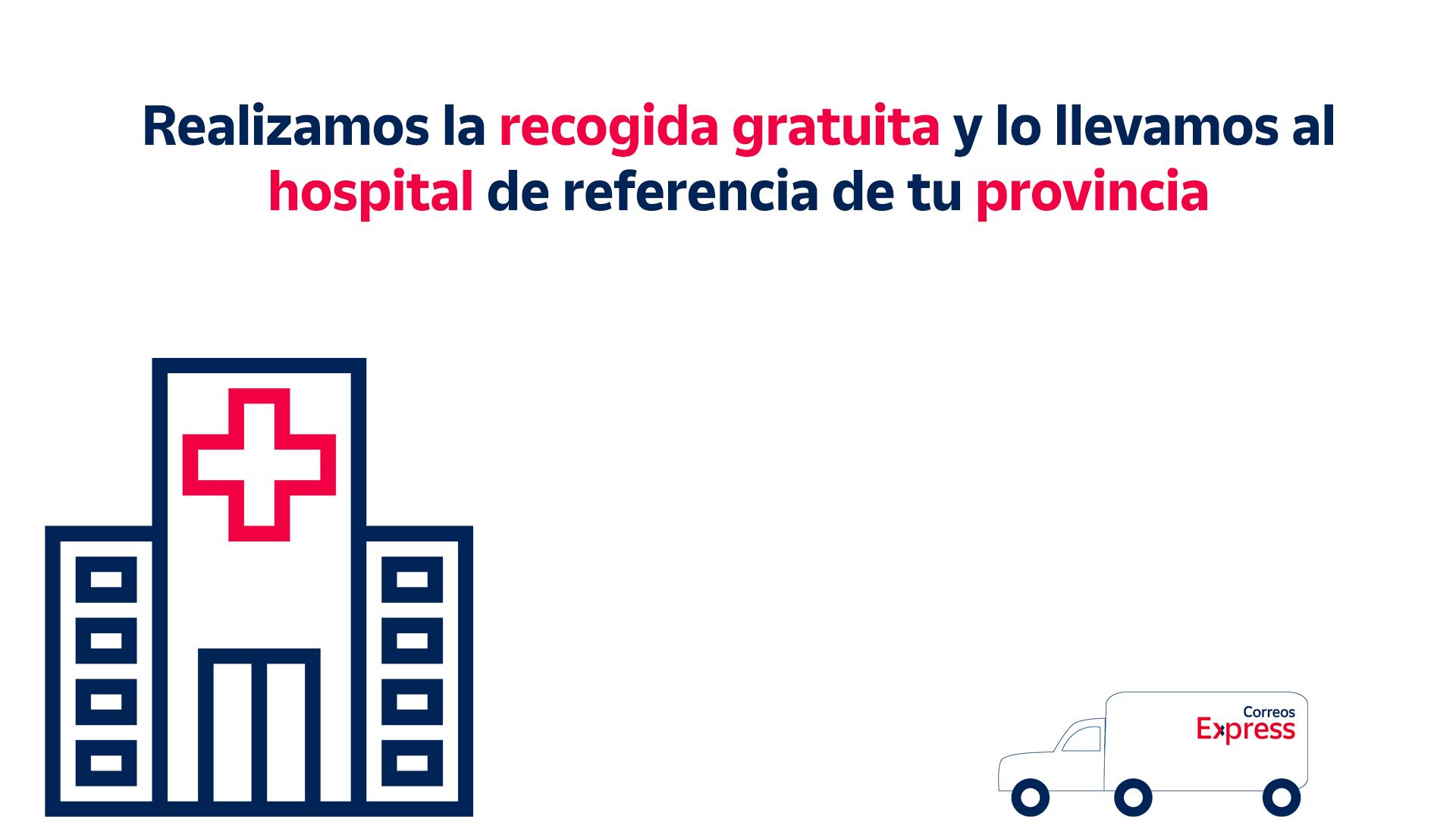 Correos Express realizará a partir de hoy envíos gratis de material sanitario a hospitales de referencia de toda España