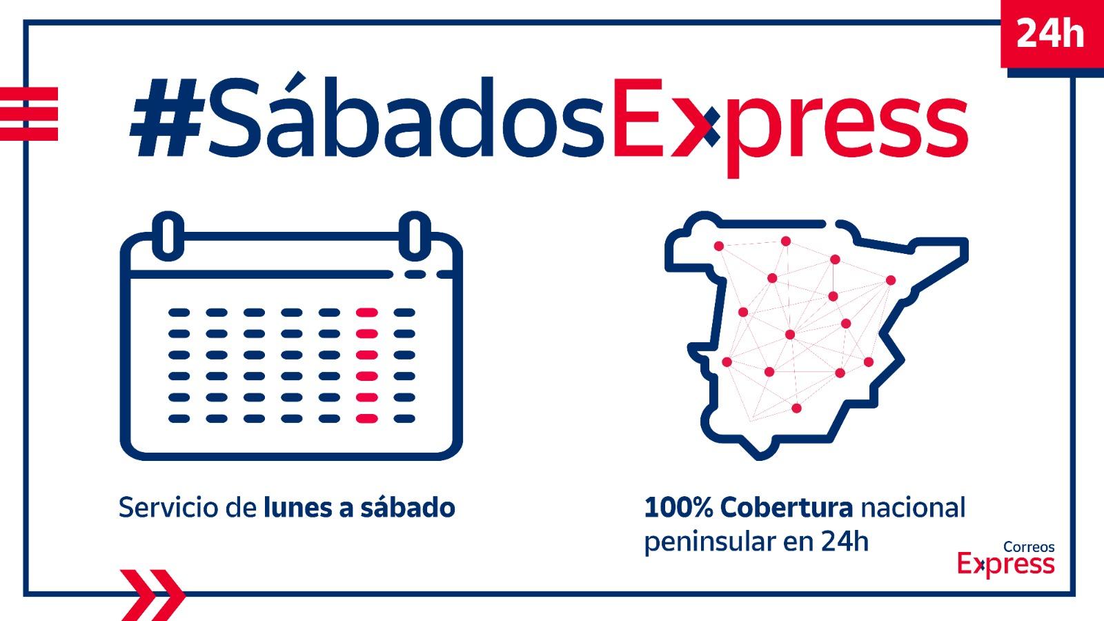 Correos Express amplía hasta los sábados su servicio de entrega en 24 horas a todo el territorio peninsular nacional