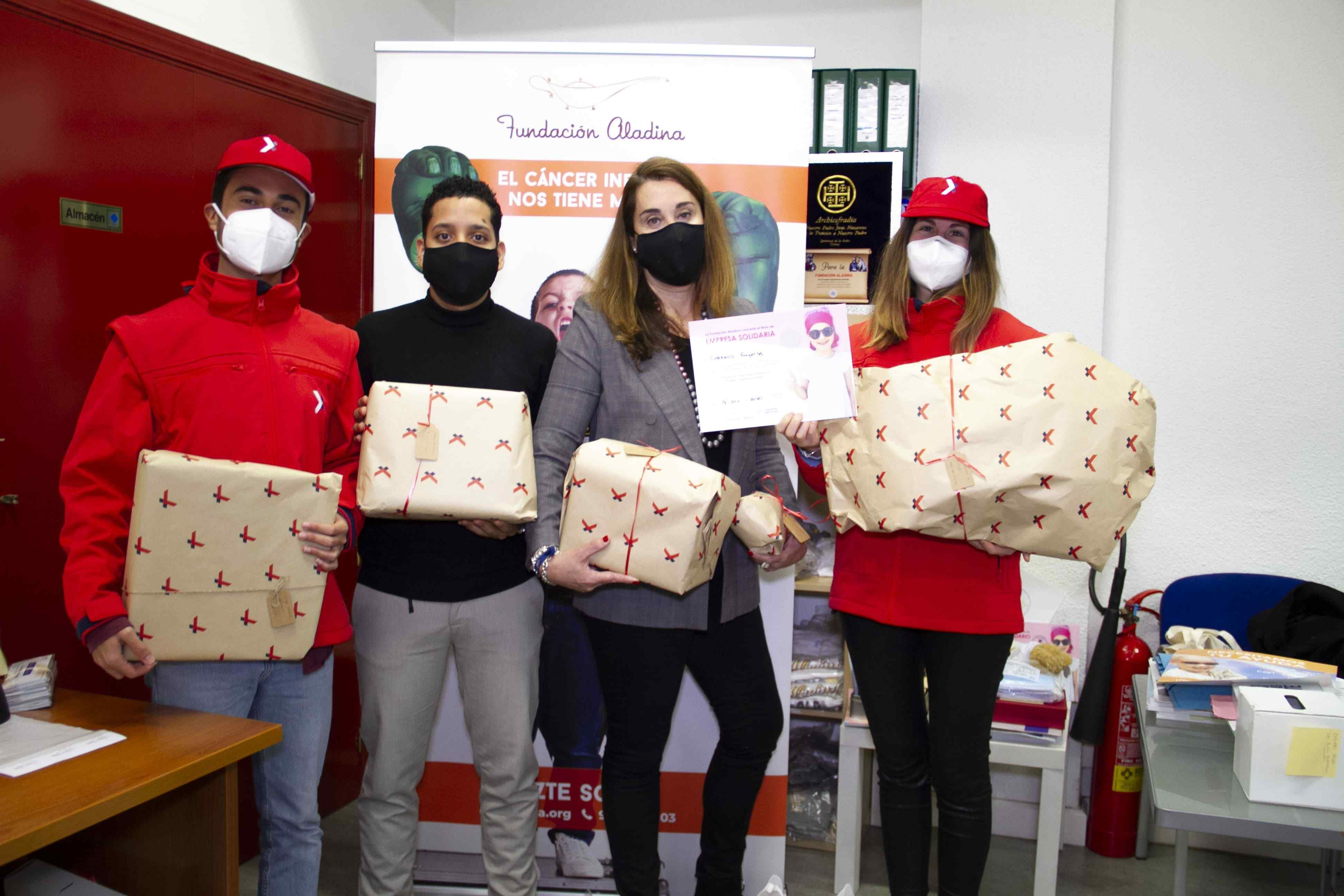 Correos Express colabora con la Fundación Aladina para donar juguetes a los niños hospitalizados de la Comunidad de Madrid